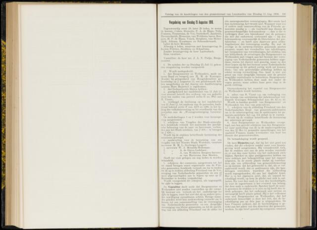 Raadsverslagen van de gemeente Leeuwarden, 1865-2007 (Notulen) 1916-08-15