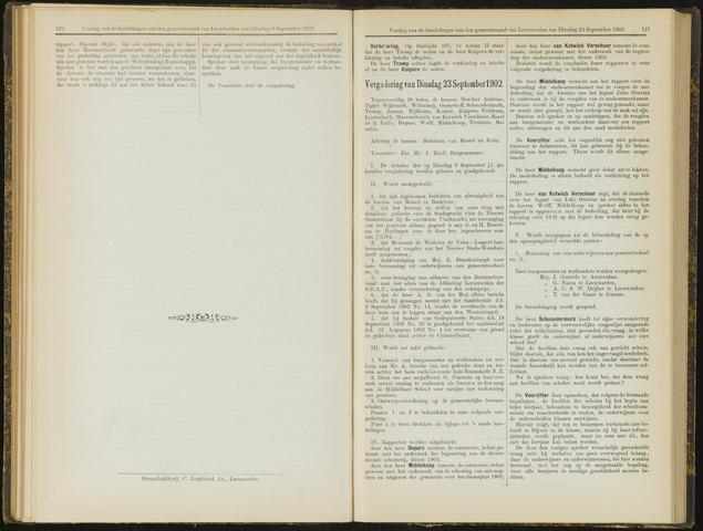 Raadsverslagen van de gemeente Leeuwarden, 1865-2007 (Notulen) 1902-09-23