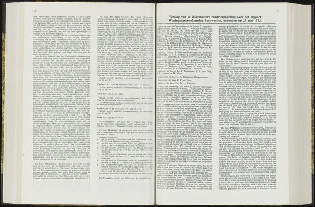 Raadsverslagen van de gemeente Leeuwarden, 1865-2007 (Notulen) 1972-05-29