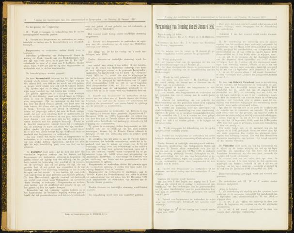 Raadsverslagen van de gemeente Leeuwarden, 1865-2007 (Notulen) 1897-01-26
