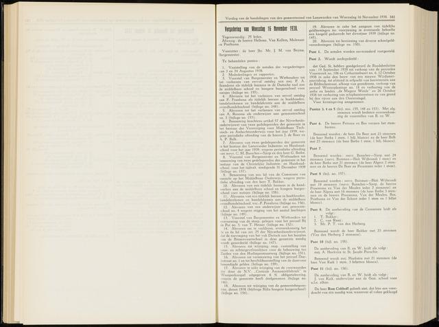 Raadsverslagen van de gemeente Leeuwarden, 1865-2007 (Notulen) 1938-11-16
