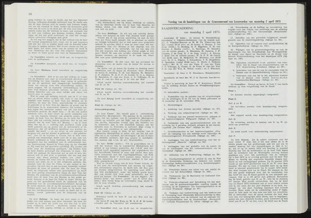 Raadsverslagen van de gemeente Leeuwarden, 1865-2007 (Notulen) 1973-04-02