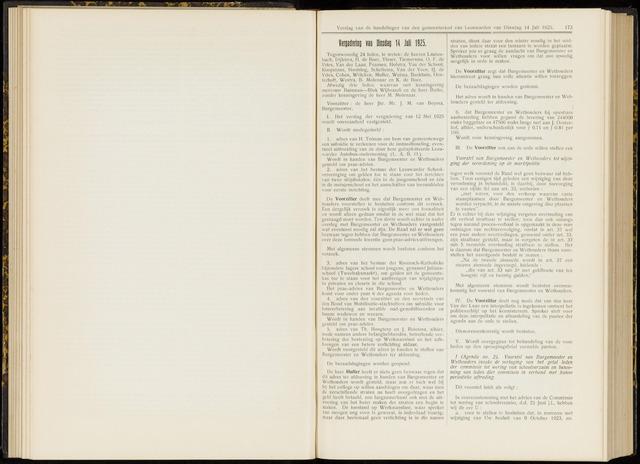 Raadsverslagen van de gemeente Leeuwarden, 1865-2007 (Notulen) 1925-07-14