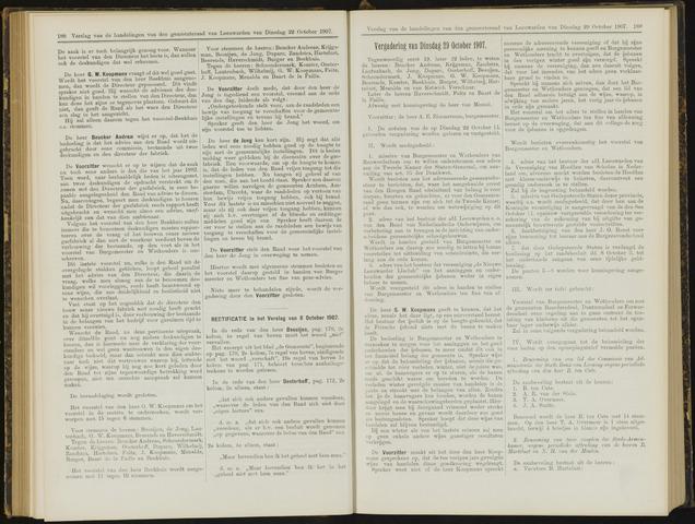 Raadsverslagen van de gemeente Leeuwarden, 1865-2007 (Notulen) 1907-10-29