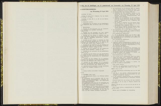 Raadsverslagen van de gemeente Leeuwarden, 1865-2007 (Notulen) 1953-04-29