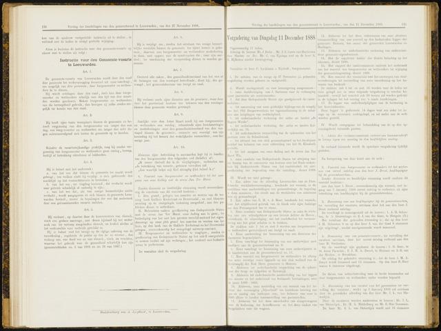 Raadsverslagen van de gemeente Leeuwarden, 1865-2007 (Notulen) 1888-12-11