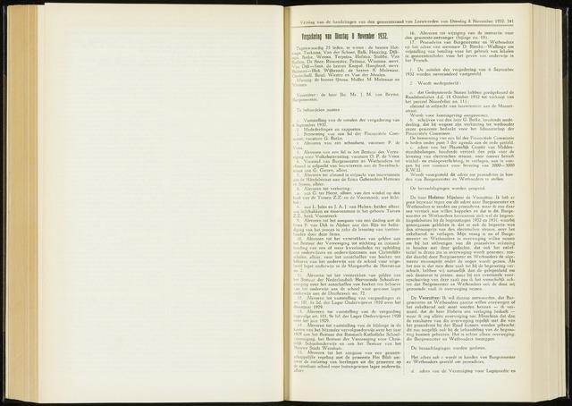 Raadsverslagen van de gemeente Leeuwarden, 1865-2007 (Notulen) 1932-11-08