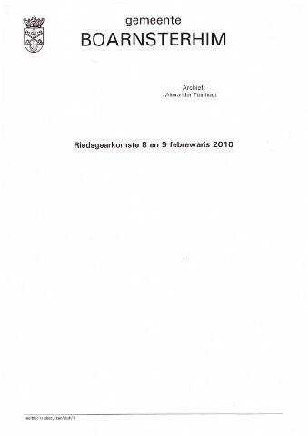 Boarnsterhim vergaderstukken gemeenteraad  2010-02-08