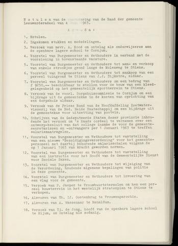 Notulen van de gemeenteraad van Leeuwarderadeel 1963-06-04