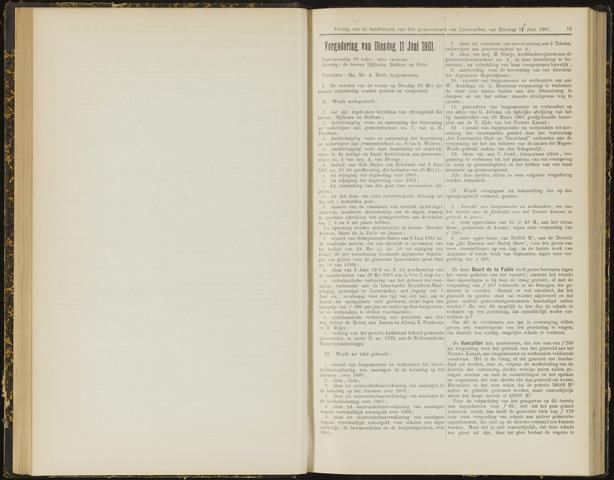 Raadsverslagen van de gemeente Leeuwarden, 1865-2007 (Notulen) 1901-06-11