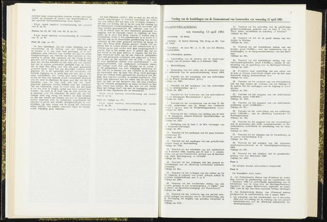 Raadsverslagen van de gemeente Leeuwarden, 1865-2007 (Notulen) 1961-04-12