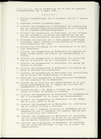 Notulen van de gemeenteraad van Leeuwarderadeel 1964-03-13