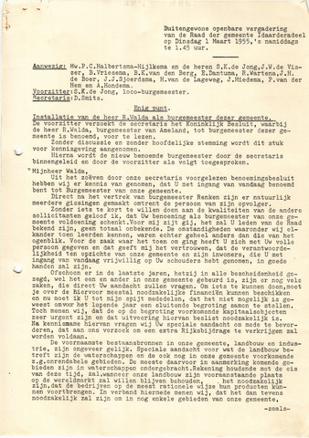 raadsverslagen Idaarderadeel 1935-1983 1955-03-01