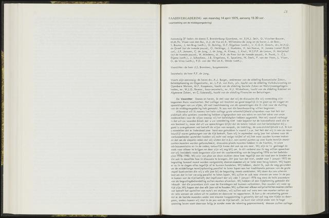 Raadsverslagen van de gemeente Leeuwarden, 1865-2007 (Notulen) 1975-04-14
