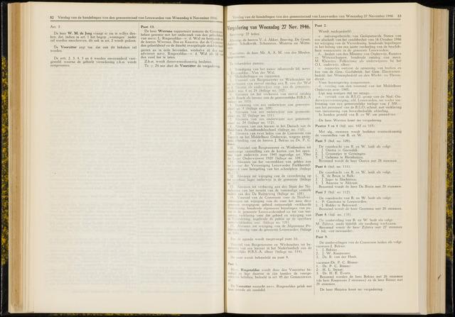 Raadsverslagen van de gemeente Leeuwarden, 1865-2007 (Notulen) 1946-11-27