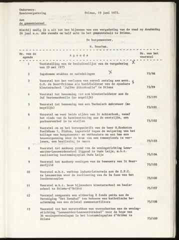 Notulen van de gemeenteraad van Leeuwarderadeel 1975-05-29