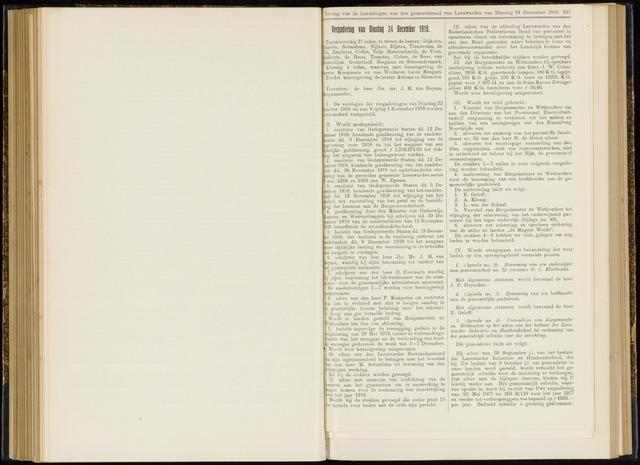Raadsverslagen van de gemeente Leeuwarden, 1865-2007 (Notulen) 1918-12-24