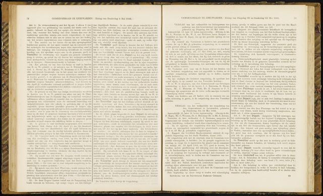 Raadsverslagen van de gemeente Leeuwarden, 1865-2007 (Notulen) 1866-05-22