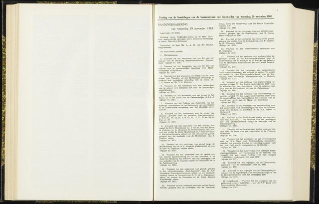 Raadsverslagen van de gemeente Leeuwarden, 1865-2007 (Notulen) 1961-11-29