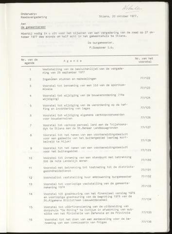 Notulen van de gemeenteraad van Leeuwarderadeel 1977-10-27