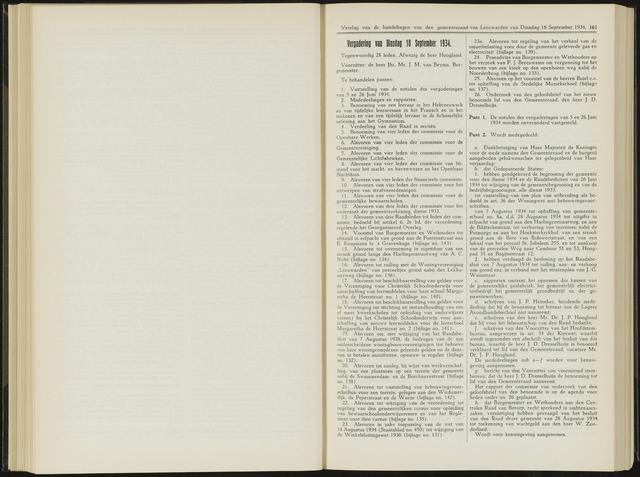 Raadsverslagen van de gemeente Leeuwarden, 1865-2007 (Notulen) 1934-09-18