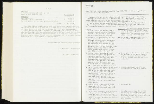 Raadsverslagen van de gemeente Leeuwarden, 1865-2007 (Schriftelijke vragen) 1967