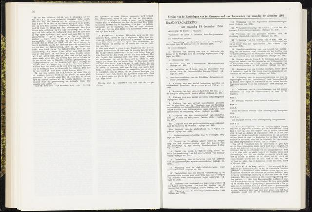 Raadsverslagen van de gemeente Leeuwarden, 1865-2007 (Notulen) 1966-12-19