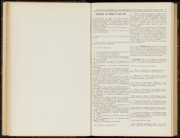 Raadsverslagen van de gemeente Leeuwarden, 1865-2007 (Notulen) 1912-04-16