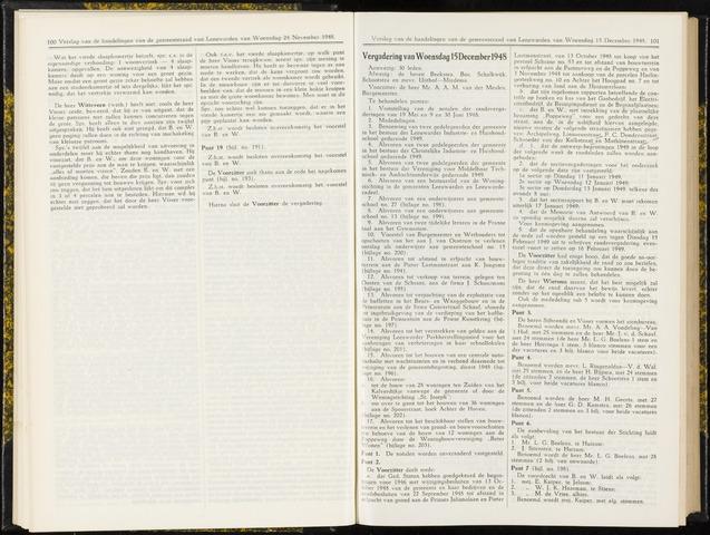 Raadsverslagen van de gemeente Leeuwarden, 1865-2007 (Notulen) 1948-12-15
