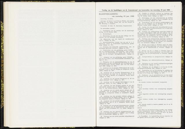 Raadsverslagen van de gemeente Leeuwarden, 1865-2007 (Notulen) 1966-06-29