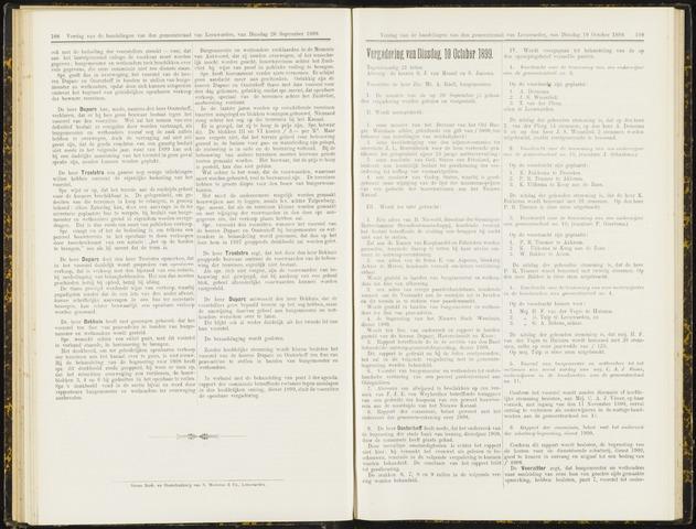 Raadsverslagen van de gemeente Leeuwarden, 1865-2007 (Notulen) 1899-10-10