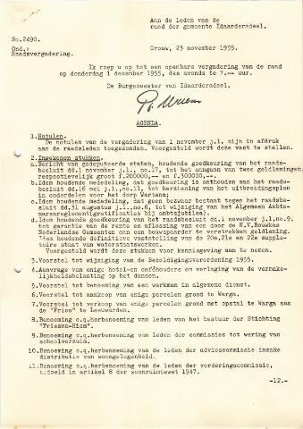 raadsverslagen Idaarderadeel 1935-1983 1955-12-01