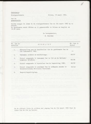 Notulen van de gemeenteraad van Leeuwarderadeel 1982-03-25