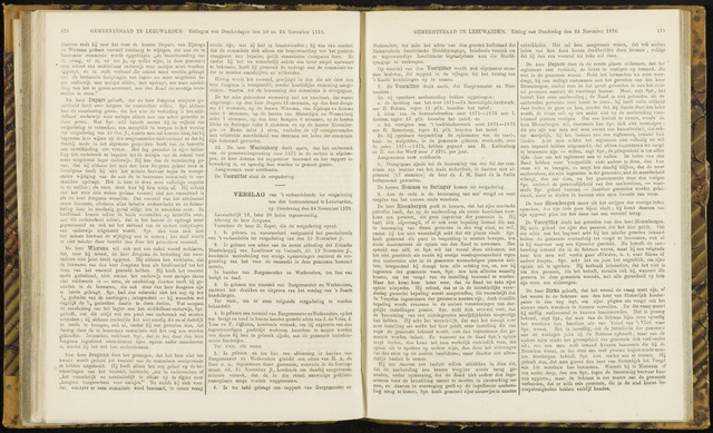 Raadsverslagen van de gemeente Leeuwarden, 1865-2007 (Notulen) 1870-11-24