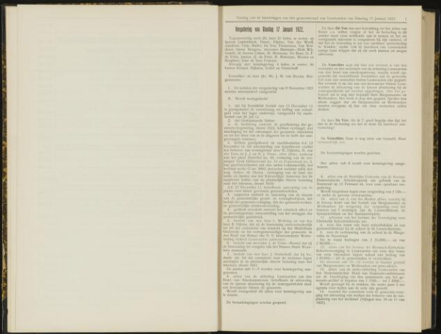 Raadsverslagen van de gemeente Leeuwarden, 1865-2007 (Notulen) 1922