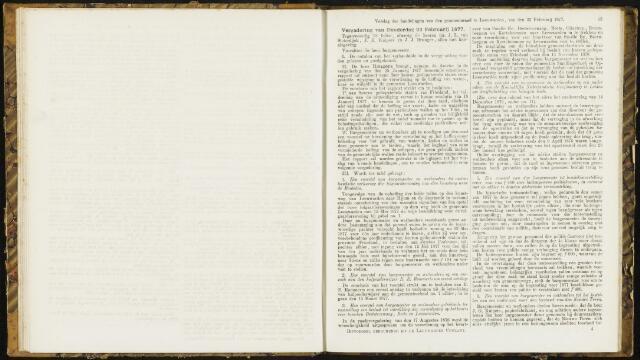 Raadsverslagen van de gemeente Leeuwarden, 1865-2007 (Notulen) 1877-02-22