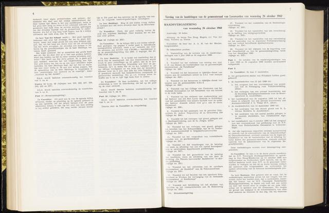 Raadsverslagen van de gemeente Leeuwarden, 1865-2007 (Notulen) 1960-10-26