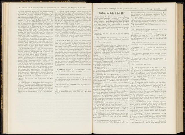 Raadsverslagen van de gemeente Leeuwarden, 1865-2007 (Notulen) 1925-06-09