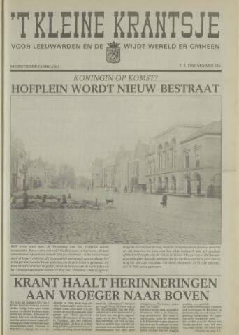 't Kleine Krantsje, 1964-1997 1983-02-05