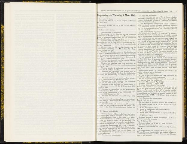 Raadsverslagen van de gemeente Leeuwarden, 1865-2007 (Notulen) 1948-03-31
