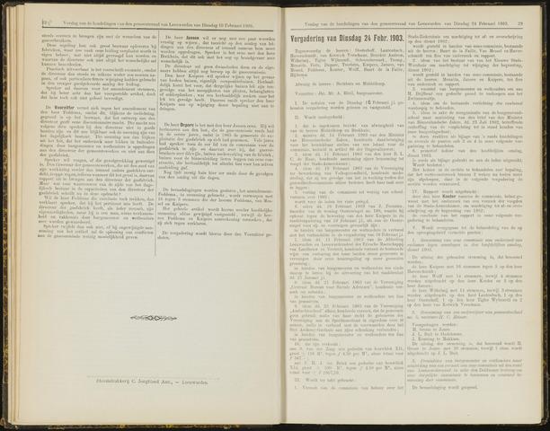 Raadsverslagen van de gemeente Leeuwarden, 1865-2007 (Notulen) 1903-02-24