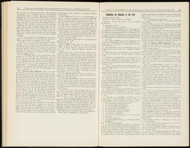 Raadsverslagen van de gemeente Leeuwarden, 1865-2007 (Notulen) 1939-07-26