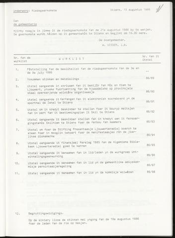 Notulen van de gemeenteraad van Leeuwarderadeel 1986-08-21