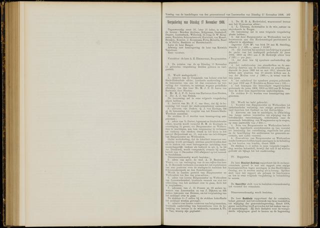 Raadsverslagen van de gemeente Leeuwarden, 1865-2007 (Notulen) 1908-11-17
