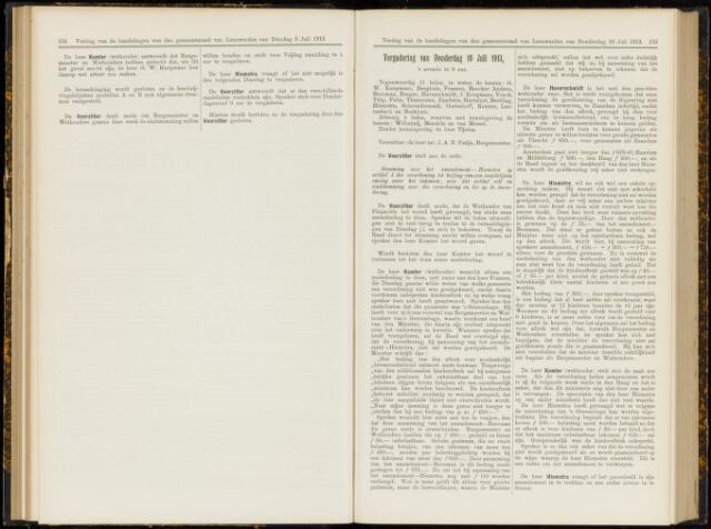 Raadsverslagen van de gemeente Leeuwarden, 1865-2007 (Notulen) 1913-07-10