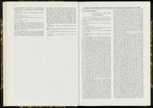 Raadsverslagen van de gemeente Leeuwarden, 1865-2007 (Notulen) 1965-05-12