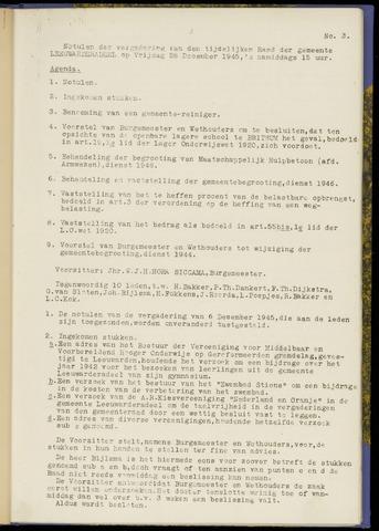 Notulen van de gemeenteraad van Leeuwarderadeel 1945-12-28