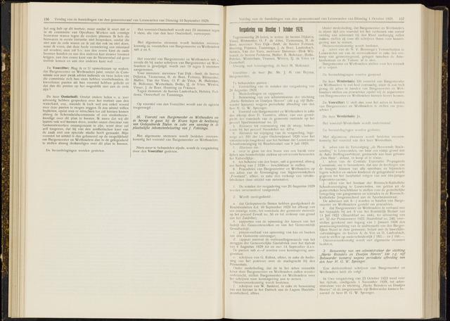 Raadsverslagen van de gemeente Leeuwarden, 1865-2007 (Notulen) 1929-10-01