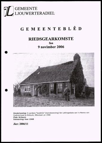 Notulen van de gemeenteraad van Leeuwarderadeel 2006-11-09