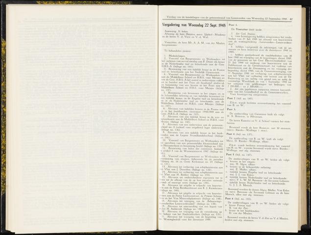 Raadsverslagen van de gemeente Leeuwarden, 1865-2007 (Notulen) 1948-09-22